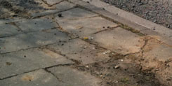 Damaged pavement