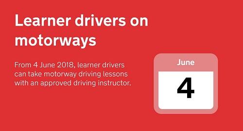 SERP Learner drivers motorway home