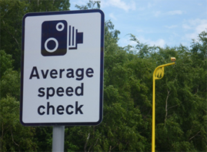 Average Speed Check sign