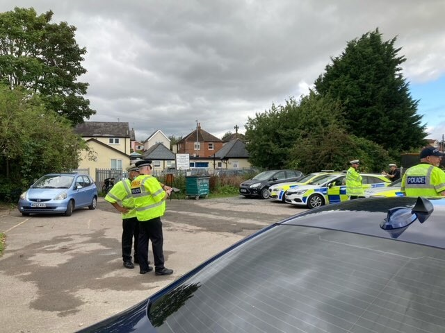 Police officers during a recent SAT day in Epping