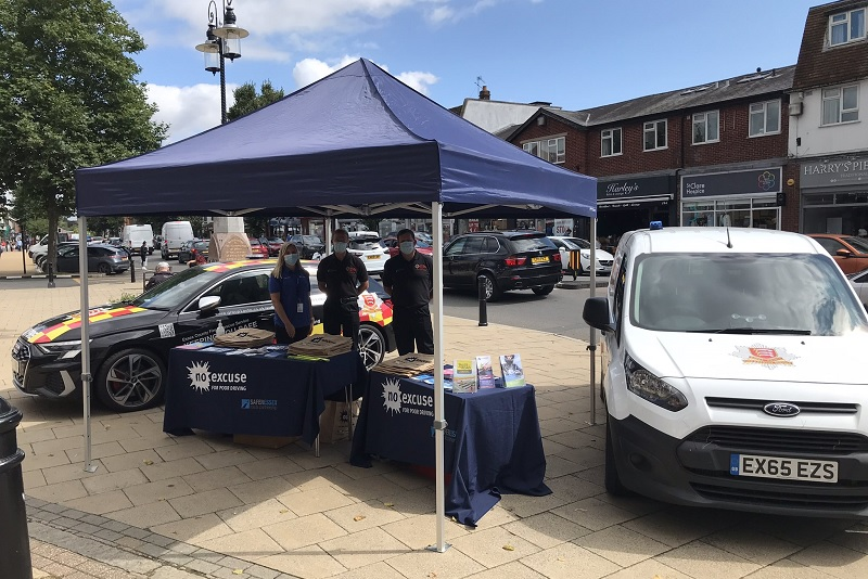 SERP officers stationed in Epping during a recent SAT day